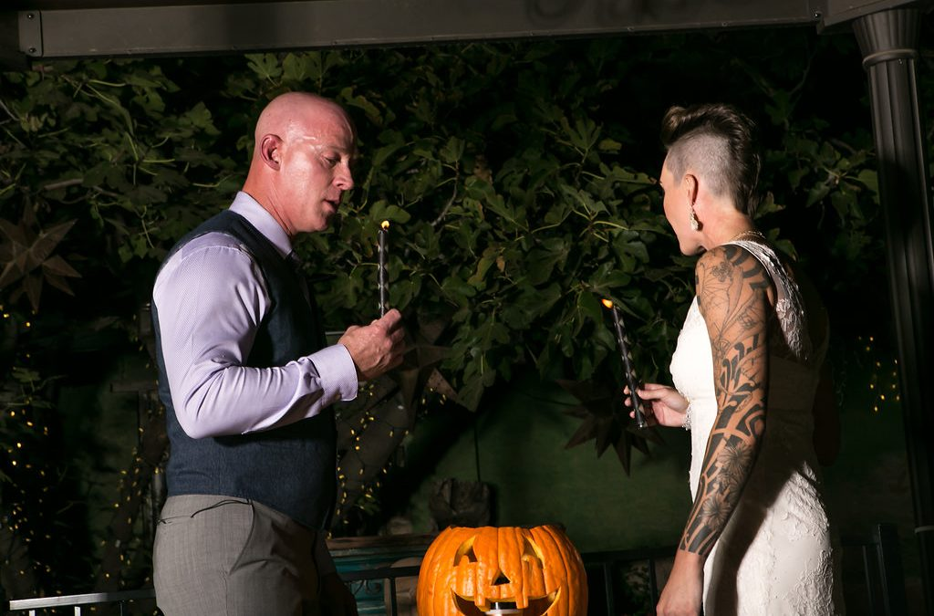 A Very Halloween Wedding at the BOOJUM Tree