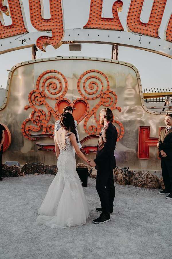 Neon Museum Vegas Wedding | Dan Bushkin Photography