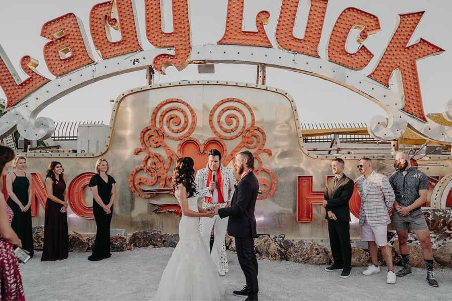 A Fun Neon Museum Vegas Wedding