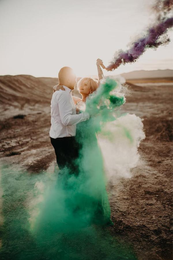 Amanda and Franky Desert Vegas Engagement | Dan Bushkin